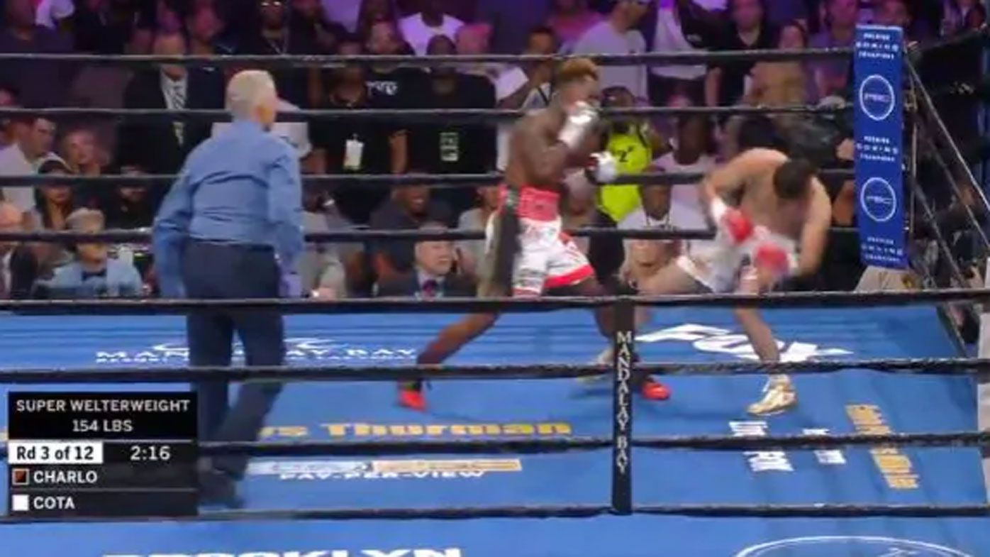 Referee slammed as Jermell Charlo delivers vicious knockout