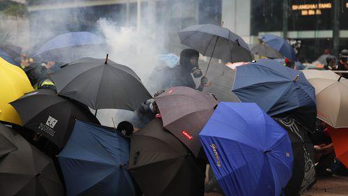 Hong Kong protests tear gas 29 September