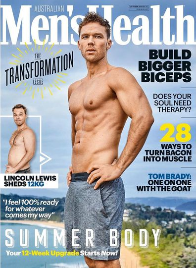 Lincoln Lewis, Men's Health, magazine shoot