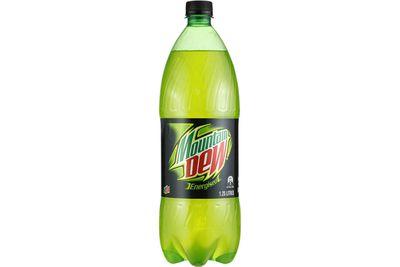 Mountain Dew: 12.3g sugar per 100ml