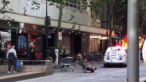 Michael Rogers, who has been sleeping rough for 18 years, was dubbed the Bourke Street 'Trolley Man' after he was caught on camera trying to fight off a terrorist.