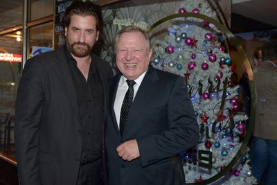 <i>Howzat</i>'s Lachy Hulme and <i>Nine News Melbourne</i>'s Peter Hitchener at the party.