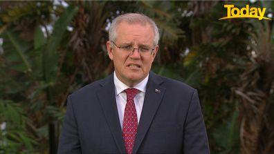 Prime Minister Scott Morrison on Today.
