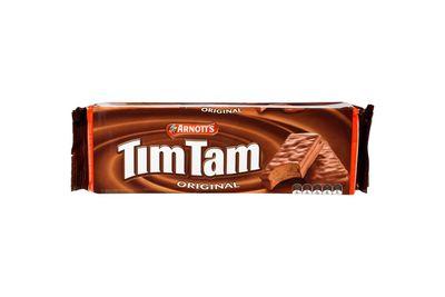 Tim Tam biscuit: 397kj/95 calories per biscuit