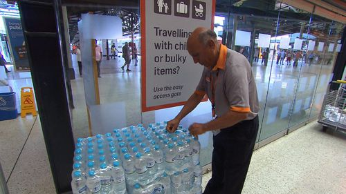 Commuters are being urged to  stay hydrated and safe in the extreme hot weather especially as there are still issues with the train lines.