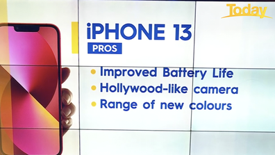 The pros of the iPhone 13.