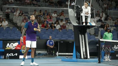 Kyrgios can't keep temper in check over net cord