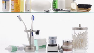 Keeping your toothbrushes in the bathroom cabinet