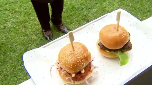 Scrumptious sliders will be on offer, along with espresso martinis and other tasty treats. (9NEWS)