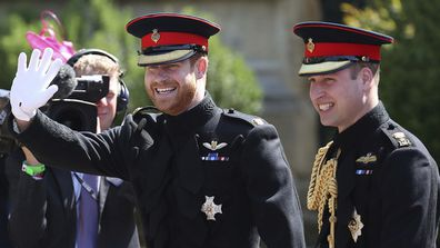 They stood at each other's sides on their wedding days. William and Harry arrive on Prince Harry's wedding day.