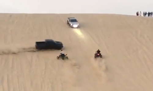 The popular race on the Al Adaid dunes is dangerous and often results in deaths.