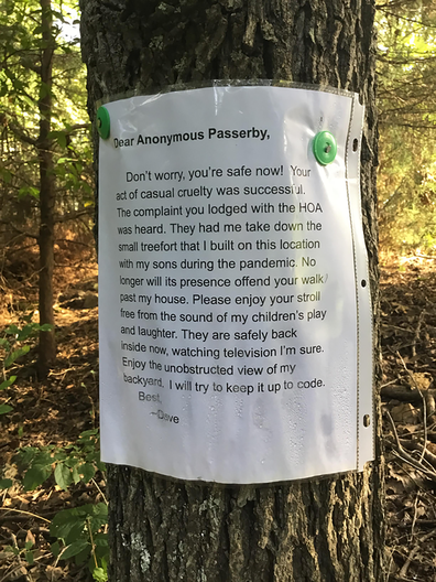 The devoted dad left a note to the woman responsible.