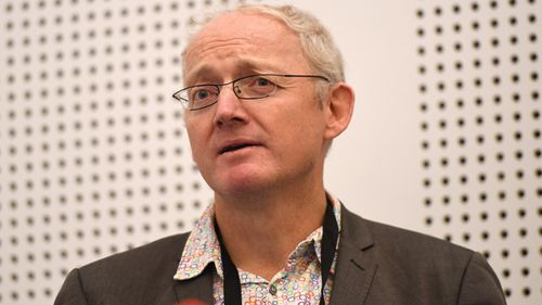 University of NSW Professor Toby Walsh speaks at the 2017 International Joint Conference on Artificial Intelligence at the Melbourne Exhibition and Convention Centre in Melbourne.