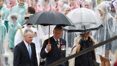 <p>Prince Charles and Camilla today attended the Remembrance Day commemorations at the Australian War Memorial in Canberra. (AAP)</p><p></p>