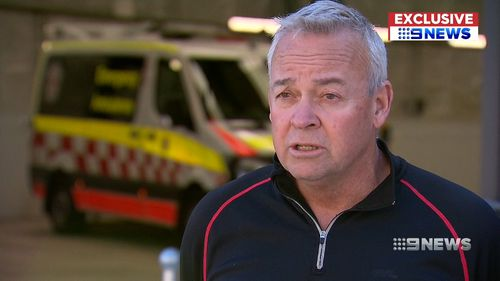 Australian Paramedics Association delegate Gerry Pyke said at the Bankstown superstation, the door suddenly came down.