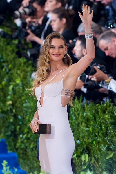 Victoria's Secret supermodel Behati Prinsloo at The Met Gala on May 1, 2017.