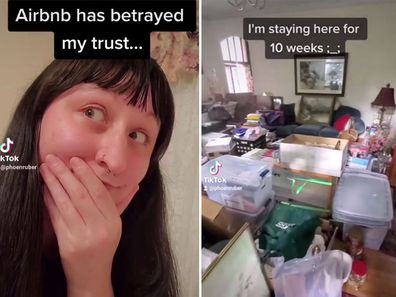 Woman horrified after 'five-star' AirBnB is covered in rubbish and looks like a 'hoarder's paradise'