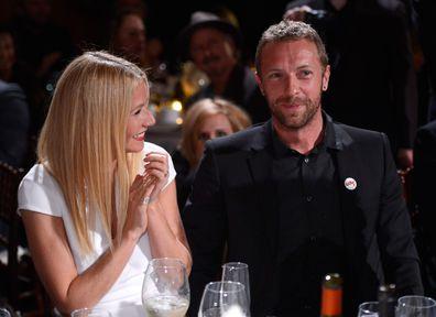 Gwyneth Paltrow and Chris Martin attend the 3rd annual Sean Penn & Friends Help Haiti Gala in 2014.