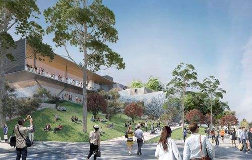 A designer's interpretation of the potential Apple flagship store at Federation Square. Picture: Supplied