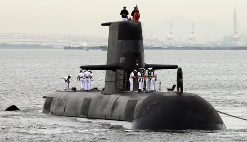 The Australian Navy submarine spotted the 71-year-old stranded in the waters. (File)
