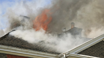 A witness reported the fire last night.