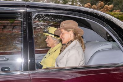 Queen Elizabeth Prince Charles church Sandringham without Prince Andrew