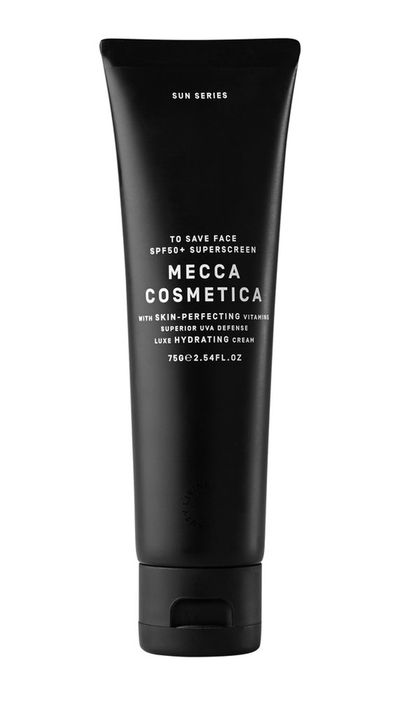 <p>The top-shelf take on Mecca Cosmetica's insanely popular SPF30 formula, this sunscreen-slash-primer has a dewier finish than the original, a higher SPF and is packed with antioxidants.</p>