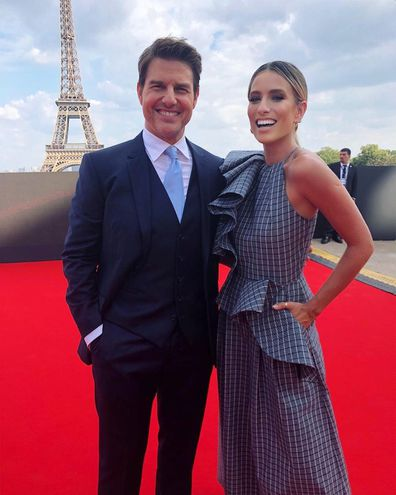 Renee Bargh and Tom Cruise