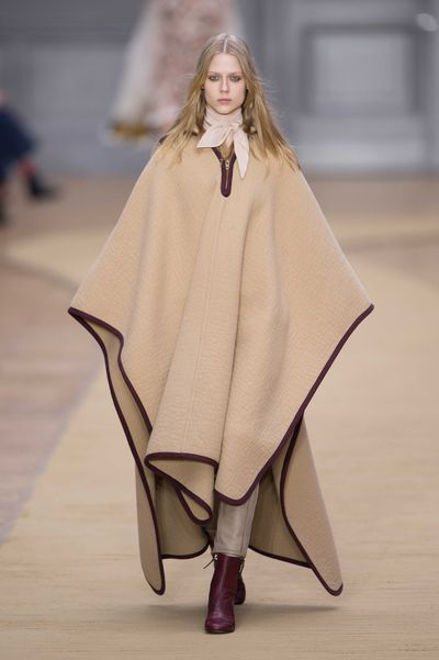 "For autumn/winter 16, Chloé designer Clare Waight Keller was inspired by Anne-France Dautheville, a French woman who travelled through Europe and the Middle East on a motorbike in the seventies. ""She had this incredibly inspiring attitude, her sense of daring,"" Waight Keller told WWD. ""She was chic and boyish at the same time. I found something really charismatic about her."""