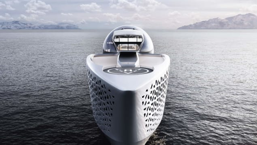 Designer Aaron Olivera says he hopes to power the vessel using experimental nuclear technology.