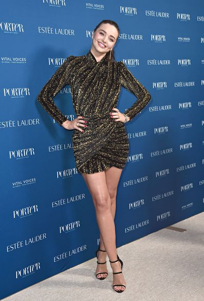 Miranda Kerr attends PORTER's Third Annual Incredible Women Gala at The Ebell of Los Angeles on October 9, 2018 in Los Angeles, California