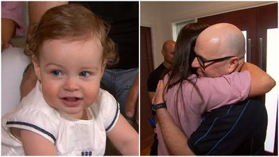 Family reunited with 'Triple-Zero hero' who helped deliver baby