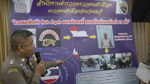 Australian Hell's Angels member arrested in Thailand over WA drugs charges