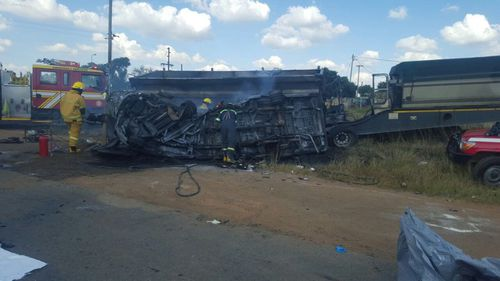 At least 19 children killed in fiery bus crash in South Africa