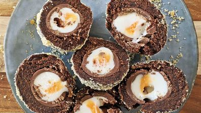 The creme scotch egg hack...