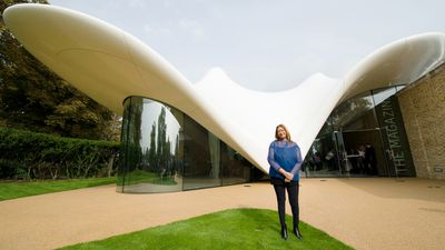 """<p>World-famous architect Zaha Hadid has died of a heart attack aged 65, leaving behind a legacy of iconic designs featuring sweeping curves, as well as controversy for huge cost overruns. </p><p>The Iraqi-born architect, who became the first woman to win the prestigious Pritzker Prize, died on Thursday in Miami after contracting bronchitis last week, her firm said.</p><p>She is best known for her designs for the Guangzhou Opera House in China and the aquatics centre used in the 2012 London Olympics.</p><p>Iraqi Prime Minister Haider al-Abadi paid tribute to Hadid, describing her death as a loss for the """"whole world"""".</p><p>Here, she is pictured outside her design for an extension of London's Serpentine Sackler Gallery.</p><p><strong>Click through the gallery to see more of Hadid's iconic designs.</strong></p><p>(All images: AFP)</p>"""