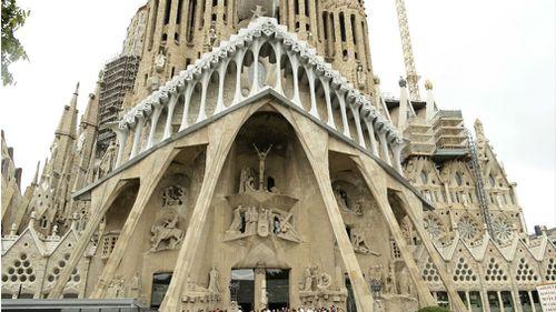 The historic Sagrada Familia church designed by Antoni Gaudi. (AAP)