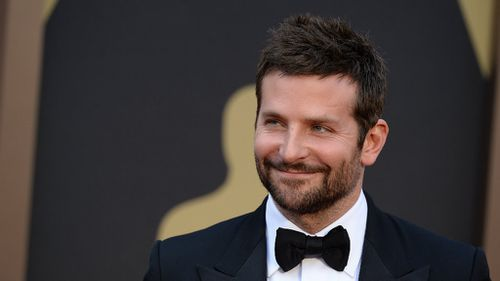Adept actor Bradley Cooper came in third.(AAP)