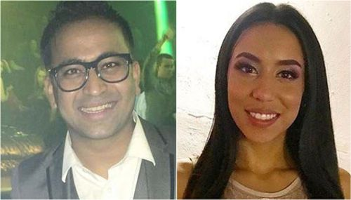 Helena Lagos, 22,  (right) and nightlife promoter Anand 'Happy' Patel (left) were killed in the crash.