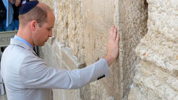 Prince William has visited the tomb of his great-grandmother while in Jerusalem.