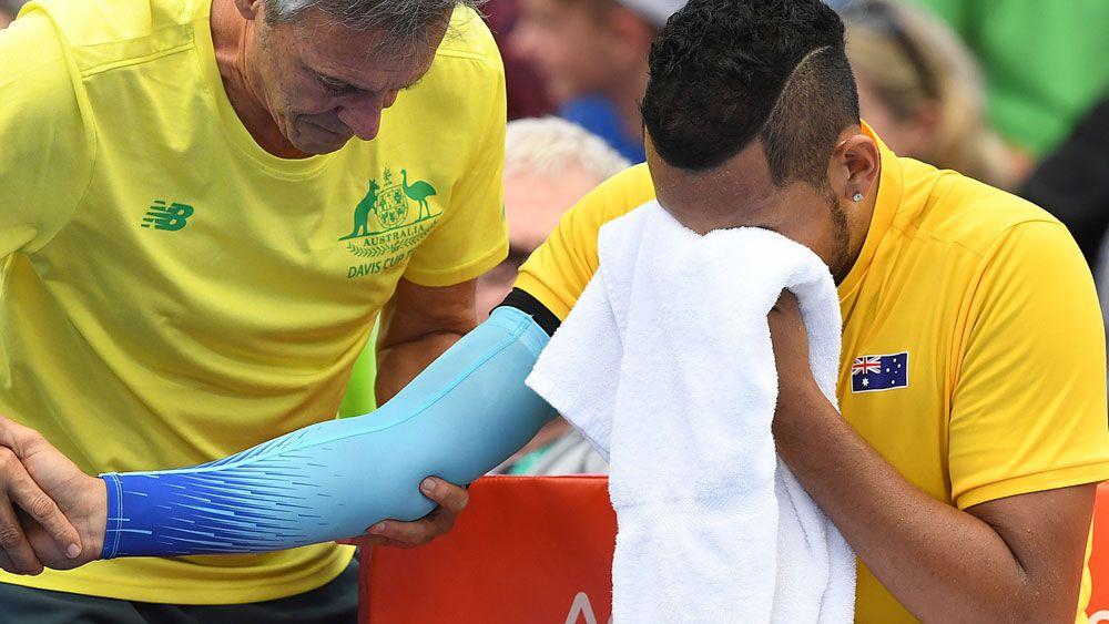 Nick Kyrgios denies succumbing to pressure in Davis Cup