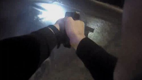 Police body cams show officers have had to draw their guns on several occasions.