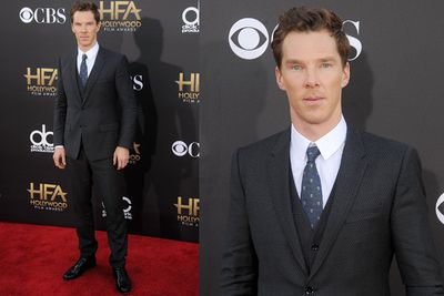 Benedict Cumberbatch... those blue eyes. He won the Hollywood Actor award for his new movie <i>The Imitation Game</i>. Oscar calling?