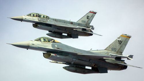 A Dutch Air Force F-16 was damaged by its own 20-millimeter cannon.