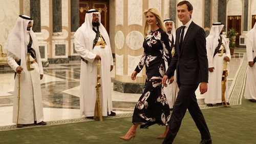 Ivanka Trump also chose not to wear a headscarf. (AAP)