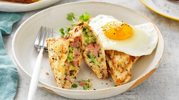 Ham and quiche jaffle