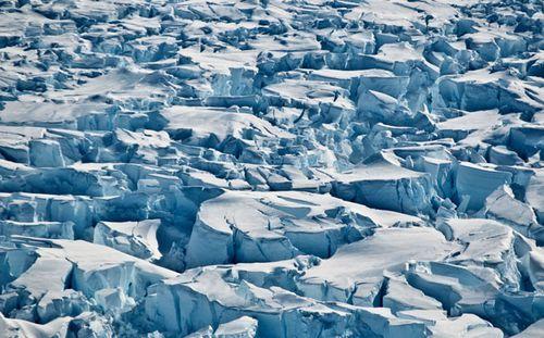 Crevasses near the edge of Pine Island Glacier, Antarctica. (AP).