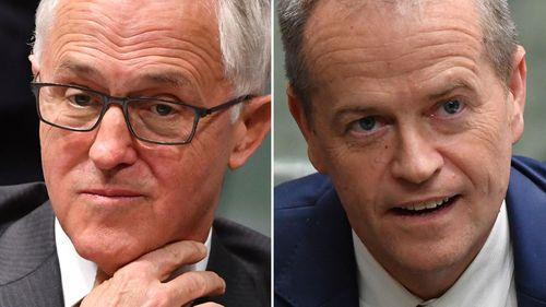 Prime Minister Malcolm Turnbull, and Opposition Leader Bill Shorten.
