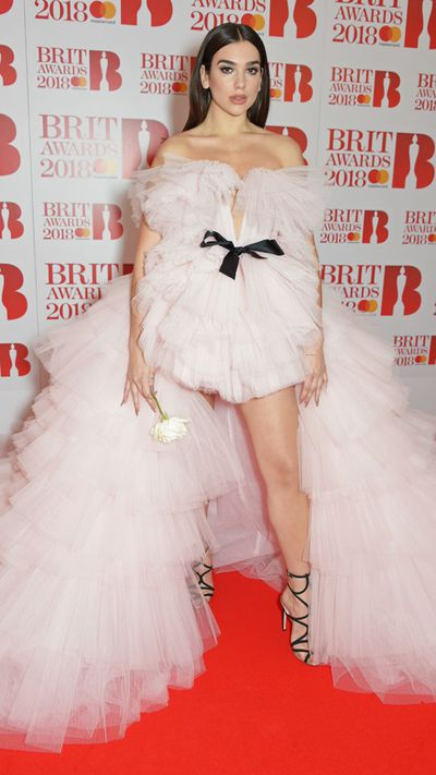 Dua Lipa in Giambattista Valli at the 2018 Brit Awards