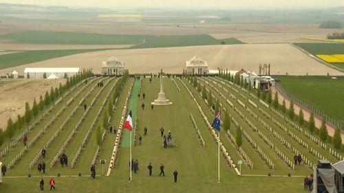 The Villers–Bretonneux Australian National Memorial in France. (9NEWS)